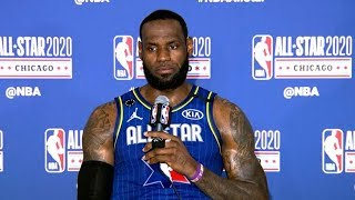 LeBron James Postgame Interview - 2020 NBA All-Star Game