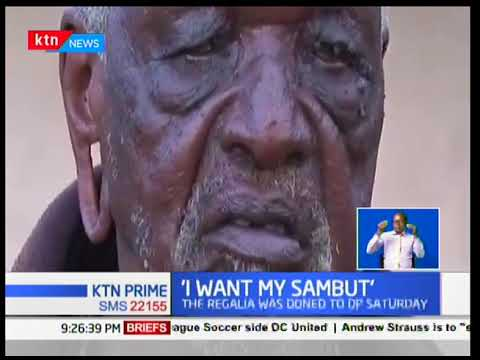 93-year-old man threatening to sue after DP Ruto was given his attire