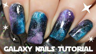 Easy Galaxy Nails For Short Nails