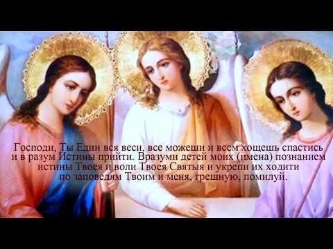 Молитва матери о детях ко Господу преп Амвросия Оптинского слушать 40 раз