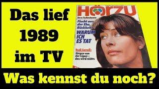 So sah das TV Programm 1989 aus - Wir schauen uns eine alte TV Zeitschrift an