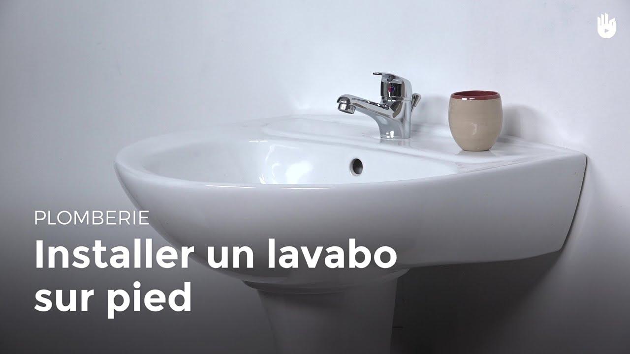installer un lavabo sur pied - diy - les basiques du bricolage ... - Comment Deboucher Lavabo Salle De Bain