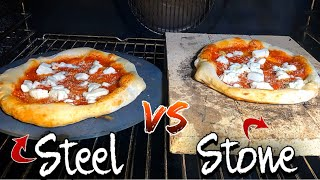 Pizza Stone Bricks  VS Steel (15% Cooking difference)