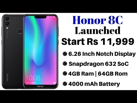 Honor 8C With Snapdragon 632 | AI-Backed Selfie Camera