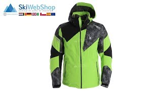 Spyder, Leader, ski-jas, heren, fresh groen/cloudy grijs/zwart