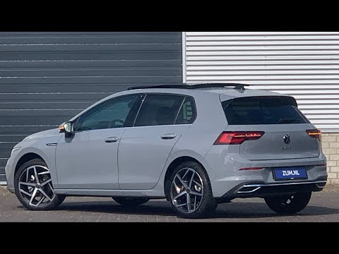 "Volkswagen NEW Golf 8 in 4K 2020 Style Moonstone Grey 18 inch ""Dallas"" Walk around & detail inside"