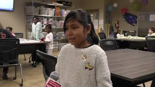 Gifted and Talented Students Create Knot Blankets for NICU