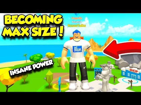 BECOMING MAX SIZE IN WORKOUT ISLAND SIMULATOR AND CRUSHING THE WHOLE SERVER! (Roblox)