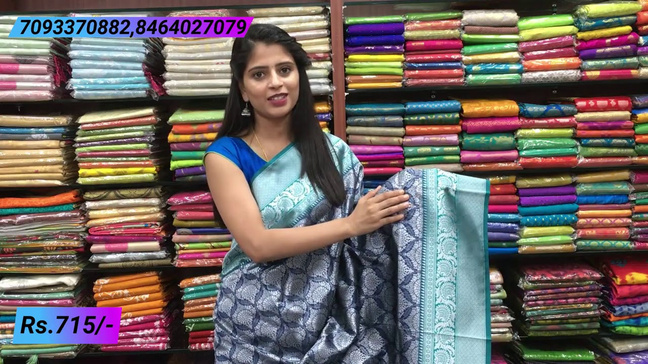 """<p style=""""color: red"""">Video : </p>Aarni Silk Sarees Collections in Low price 