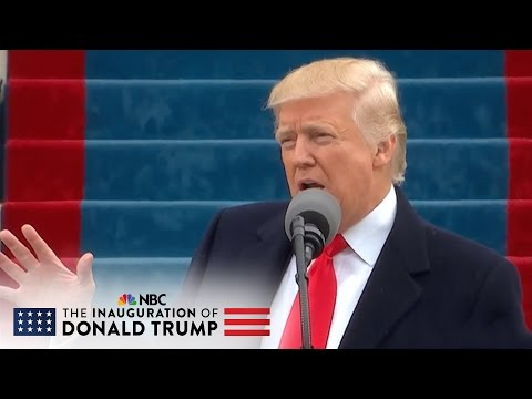 President Donald Trump Calls For Unity Through Patriotism At Inauguration   NBC News
