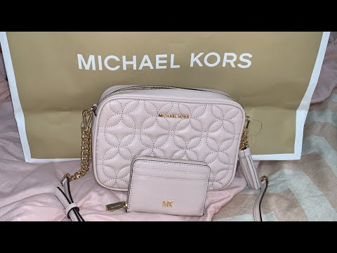 MICHAEL KORS Quilted Floral Camera Bag Unboxing