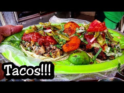 AMAZING Mexican Street Tacos!! - DEEP In The Streets Of Mexico - Local Street Food