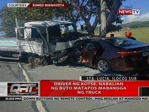 [GMA]  QRT: Driver ng kotse, nabalian ng buto matapos mabangga ng truck
