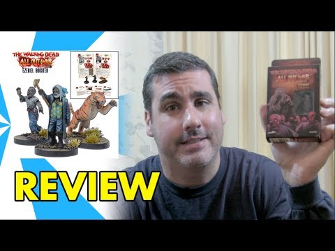 THE WALKING DEAD ALL OUT WAR MINIATURES GAME EZEKIEL BOOSTER REVIEW