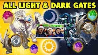 ALL LIGHT & DARK ELEMENT GATES w/ Knight Mare & Knight Light (Skylanders Trap Team)