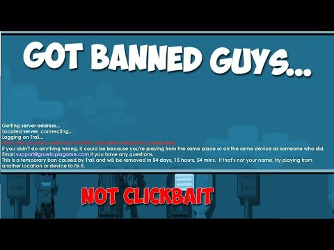 Trail Of Legend got banned guys... 😔 - Growtopia