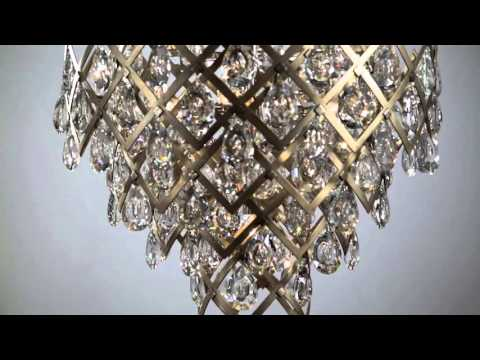 Video for Tiara Vienna Bronze Three-Light Pendant