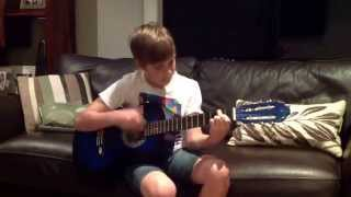 Pro guitar kid plays a couple of cool songs
