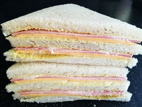 Video Sandwich Recipes : Ham & Cheese Sandwich Recipe