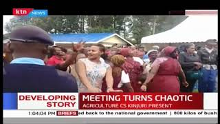 Tanga Tanga, Kieleweke supporters clash as Development meeting turned chaotic in Nyeri