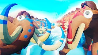 THE BIGGEST MAMMOTH VS MAMMOTH BATTLE EVER in TABS!!?! (Totally Accurate Battle Simulator)