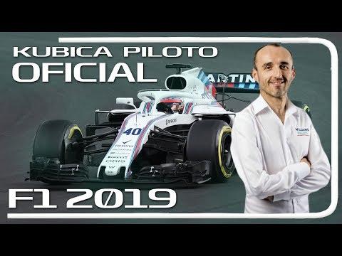 F1 2019   KUBICA VUELVE a la FORMULA 1 con WILLIAMS!!!