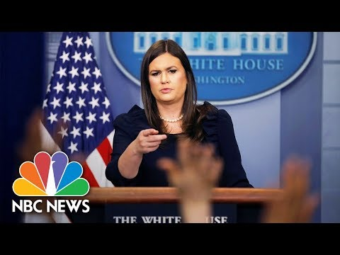 White House Press Briefing Following Paul Manafort Indictment (Full) | NBC News