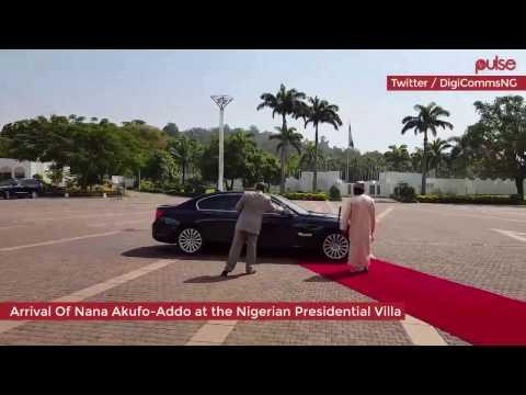 Ghana meets Naija: President-elect Nana Akufo - Addo meets Nigeria's Buhari