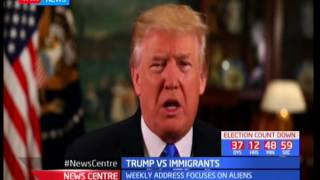 US president Donald Trump on Illegal immigrants