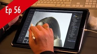 Retouching in Photoshop in iPad pro with Apple pencil and Astropad QF Ep 56