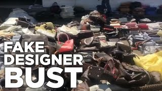 1000s Of Fake Designer Bags And Clothes BUSTED