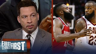 Chris Broussard on why James Harden may not want LeBron on the Rockets   NBA   FIRST THINGS FIRST - dooclip.me