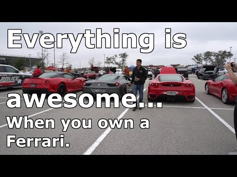 This is why you own a Ferrari! What an amazing day ...