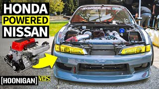 A Honda K24 Powered 240sx... Built to Grip!! Touge Factory's JDM Frankenstein Madness