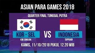 Link Live Streaming Badminton Tunggal Putra, Indonesia Vs Korea Selatan Asian Para Games 2018