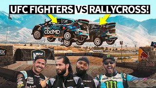 Ken Block Takes UFC Fighters Jorge Masvidal and Tyron Woodley on a Wild Rallycross Ride