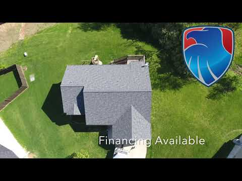 We worked with two roofs next door to each other on this project. Two neighbors had wind damage to their roof and we worked with both of their insurance companies.