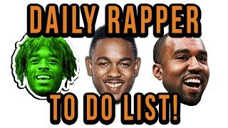 Rappers To Do List - 3 Daily Things For Success (To Do List)