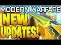 NEW MODERN WARFARE UPDATES! CROSSBOW, 725 NERFS, ADVANCED UAV, PICCADILLY + MORE COD Modern Warfare!