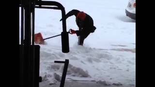 Guy Falls For 9 WHOLE Seconds Shovelling Snow!