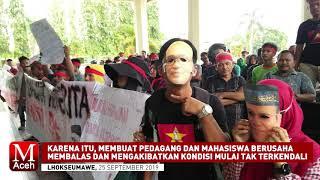 Mediasi Antara Pedagang dan Mahasiswa dengan Kadisperindag Lhokseumawe Ricuh