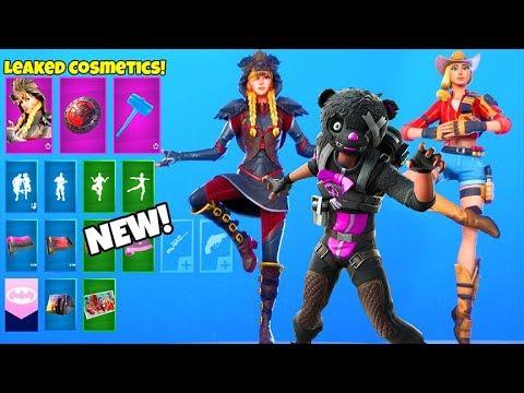 *NEW* Skins & Emotes..! (DARK FIRE Bundle, Halloween Bear LEAKED!) Fortnite Battle Royale