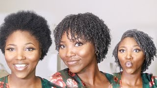 My First Wash and Go | Short Natural 4c Hair - Activating 4c Curls