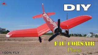 How to make AeroPlane at home | DIY Rc F4U Corsair Plane that 100% fly