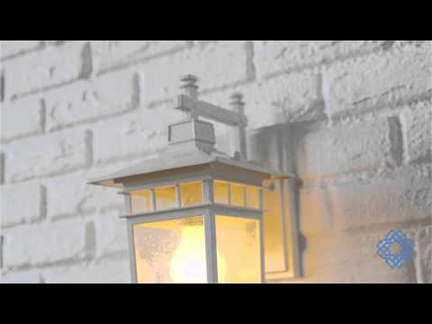 Video for Cove Neck White Finish One Light Outdoor Wall Sconce with Clear Seeded Glass