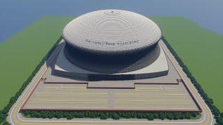 Minecraft - TIMELAPSE - Mercedes Benz Superdome (New Orleans Saints) + DOWNLOAD [Official]