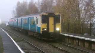 preview picture of video 'Half an Hour at (77) - Hawarden Bridge Station 27.11.2014 - Shotton Deeside Class 66 150'