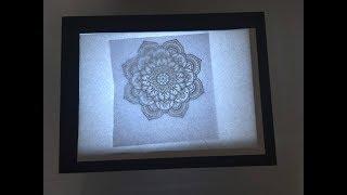EASY DIY LIGHT BOX USING PICTURE FRAMES