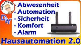 Hausautomation Alarmtechnik Anwesenheits-Simulation mit dem Lightmanager Air von JB-Media und Alexa