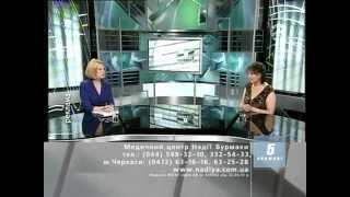 Інтерв'ю Надежда Петровна Бурмака в гостях студии 5-го телеканала 3